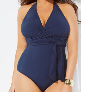 Swimsuits for all faux wrap plunge swimsuit 60n3!